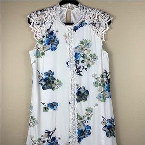 • Altar'd State • Floral Lace Mock Neck Dress